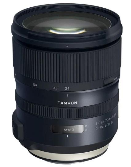 Pachet Tamron Obiectiv Foto DSLR 24-70mm F/2.8 SP VC USD G2 Canon+Manfrotto Filtru UV Slim 82mm 0