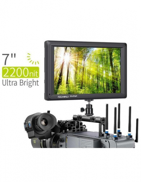Pachet FeelWorld Monitor 7 Inch Ultra Bright 1920x1200 4K SDI/HDMI Input Output + Digital Power NP-F960/F970 acumulator pentru Sony + Digital Power incarcator rapid cu LCD pentru Sony
