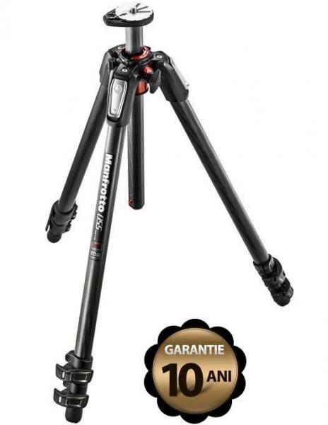 Pachet Manfrotto 055CXPRO3 trepied foto carbon + Manfrotto X-PRO 3-Way cap foto cu manere retractabile + Manfrotto geanta trepied 90cm cu protectie
