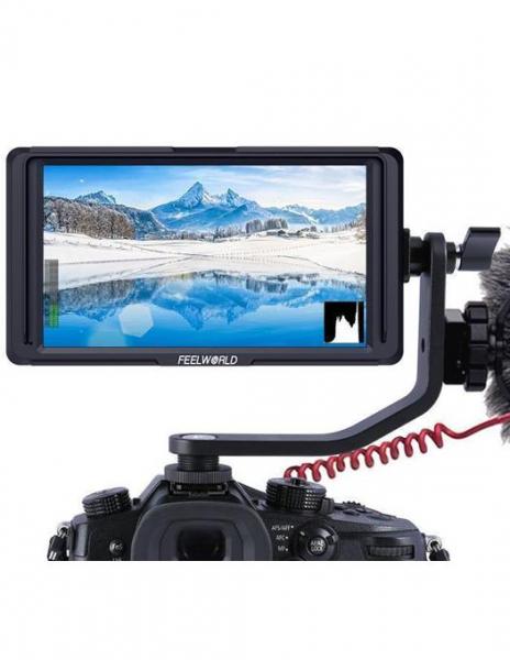 Pachet FeelWorld Monitor 5Inch Full HD 1920x1080 4K HDMI + Digital Power NP-F550 acumulator pentru Sony + Power incarcator rapid pentru Sony 0