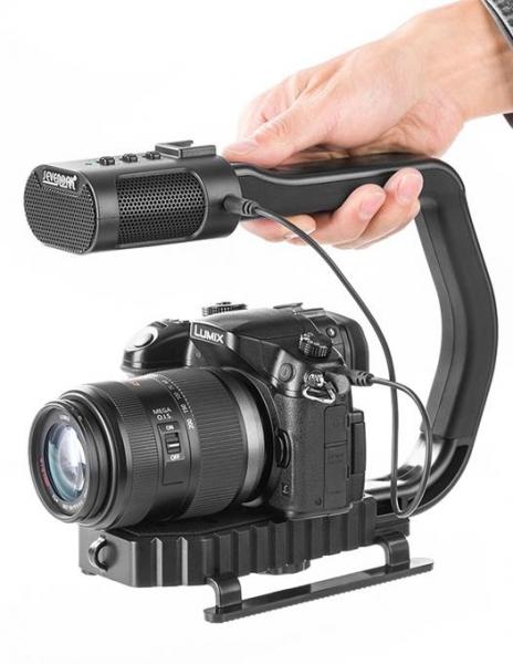 MicRig Stereo maner cu microfon pentru camere video+Lumimuse8 0