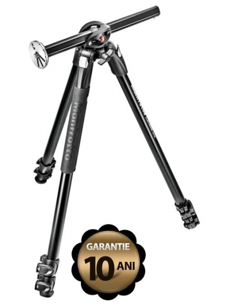 Pachet Manfrotto MT290DUA3 trepied foto + Manfrotto MH804-3W cap 3Way cu manere retractabile