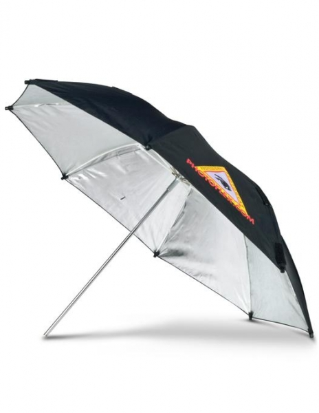 Pachet Manfrotto Mini Stand 5001B + Manfrotto Smart Tilt, suport umbrela cu patina pentru blitz + Photoflex UM-ADH45 Umbrela Argintie 114cm 1