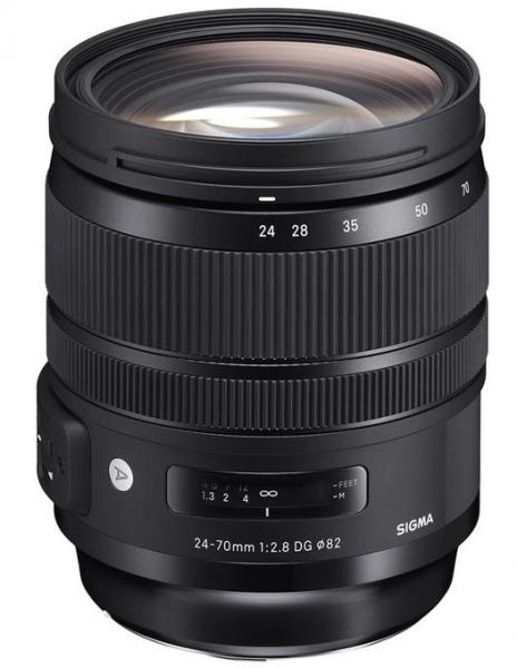 Pachet Sigma 24-70mm Obiectiv Foto DSLR f/2.8 OS DG HSM ART CANON+Manfrotto Filtru UV Slim 82mm 0