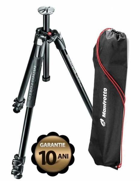Pachet Manfrotto 290 XTRA trepied foto + Manfrotto MH804-3W cap 3Way cu manere retractabile
