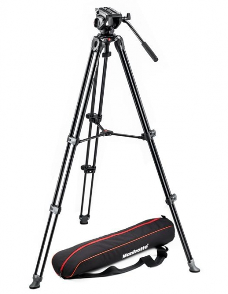 Pachet JVC GY-LS300CHE 4K Camera Video Super 35mm + Manfrotto CC 193N geanta video + Kit  MVK500AM trepied video 1