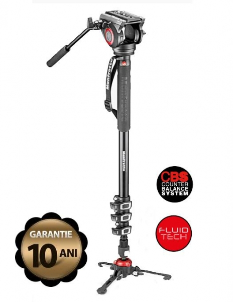 Pachet JVC GY-HM250E camera video 4K Live Streaming + Manfrotto CC 191N geanta video + Manfrotto MVMXPRO500 monopied video cu baza Fluidtech
