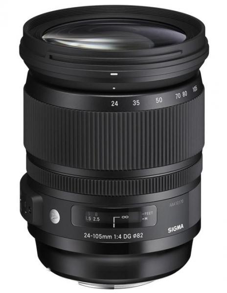 Pachet Sigma 24-105mm Obiectiv Foto DSLR f4 DG OS HSM ART CANON+Manfrotto filtru UV 0