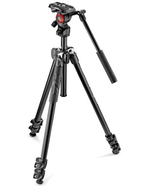 Pachet Manfrotto 290LTA kit trepied video + Manfrotto geanta trepied 60 cm Non Padded 0