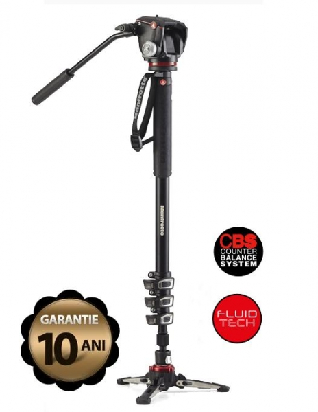 Pachet Kata KT PL-S-261 rucsac foto/video + Manfrotto Monopied video fluid dedicat Mirrorless + Boya BY-MM1 Microfon unidirectional
