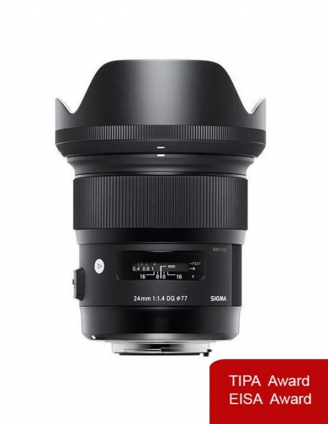 Pachet Sigma 24mm f 1.4 DG HSM Art Nikon + Manfrotto Monopied Element Red 0