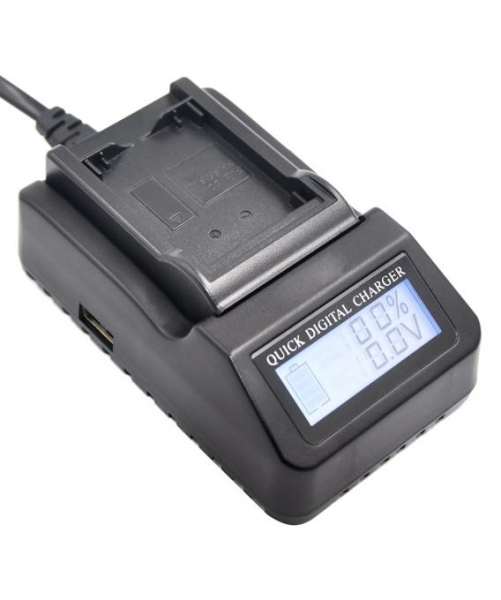Pachet Travor Grip pentru Canon 7D + Digital Power LP-E6 acumulator 1865mAh pentru Canon 5D, 6D, 7D, 60D, 70D + Digital Power LP-E6 incarcator rapid cu LCD pentru Canon 2