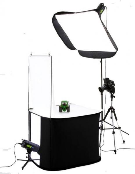 Pachet Lastolite RayD8 5600K Kit portret + Lastolite Cort tip masa portabila Litetable 70 x 70cm 1