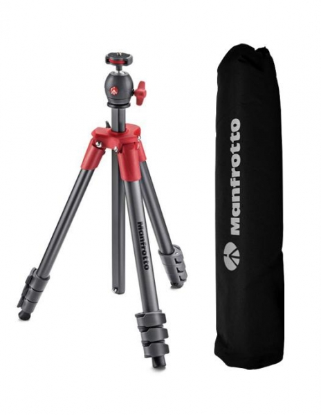 Pachet Manfrotto MB BP-E Essential rucsac foto + Manfrotto Compact Light rosu