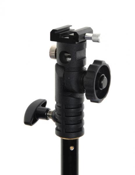 Pachet Manfrotto Mini Stand 5001B + Lastolite Tilt Head Shoe suport umbrela cu patina blitz 1