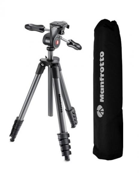 Pachet Kata DL-ORBT-10 geanta foto + Manfrotto Compact Advanced kit trepied foto cu cap 3-Way si husa