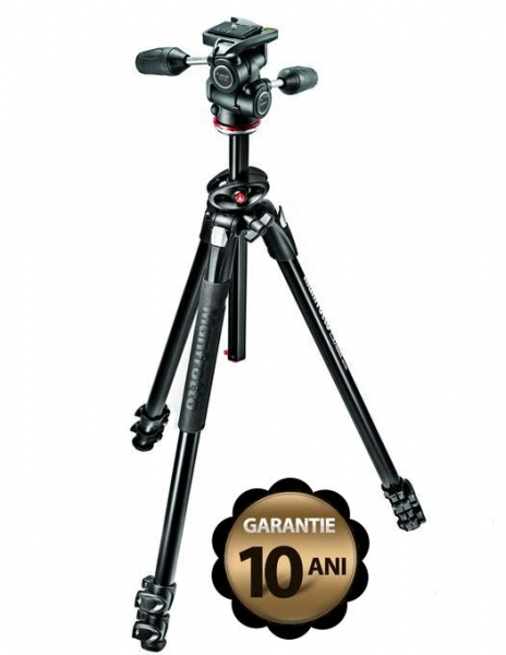 Pachet Manfrotto MK290DUA3-3W kit trepied cu cap 3Way + Manfrotto geanta trepied 75 cm Non Padded 0