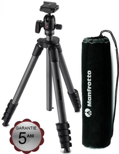 Pachet Manfrotto Rucsac Foto Modular Noreg 30 + Manfrotto Compact Advanced kit trepied foto cu cap bila si husa