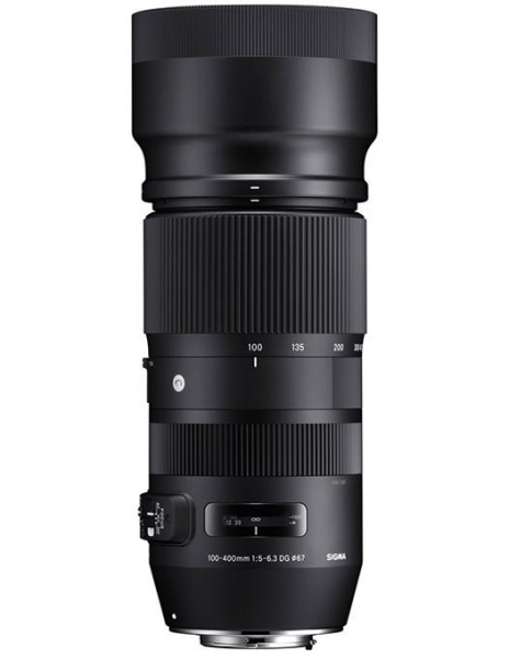 Pachet Sigma 100-400mm f 5-6.3 DG OS HSM C Canon + Manfrotto  monopied foto Element Red 0
