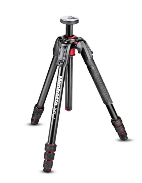 Pachet Manfrotto 190GO Seria M trepied + Manfrotto MHXPRO-2W Fluid cap trepied video + Manfrotto geanta trepied 80 cm Non Padded