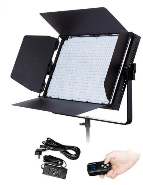 Pachet Tolifo GK-J-100WAB LED Bicolor 3200-5600K Ultra-Thin + Digital Power BP-190WS acumulator V-mount pentru Sony 0