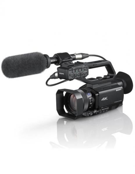 Pachet SONY HXR-NX80 camera video 4K + Manfrotto MVMXPRO500 monopied video cu baza Fluidtech + Manfrotto CC 191N  geanta video 0
