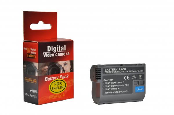 Pachet Digital Power EN-EL15B acumulator pentru Nikon + Digital Power Incarcator compatibil Nikon EN-EL15 0