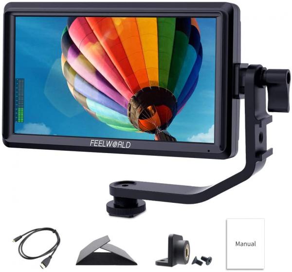Pachet FeelWorld Monitor 5.5 Inch IPS 1280x720 4K HDMI Input Output + Digital Power NP-F550 acumulator pentru Sony + Digital Power incarcator rapid pentru Sony 0