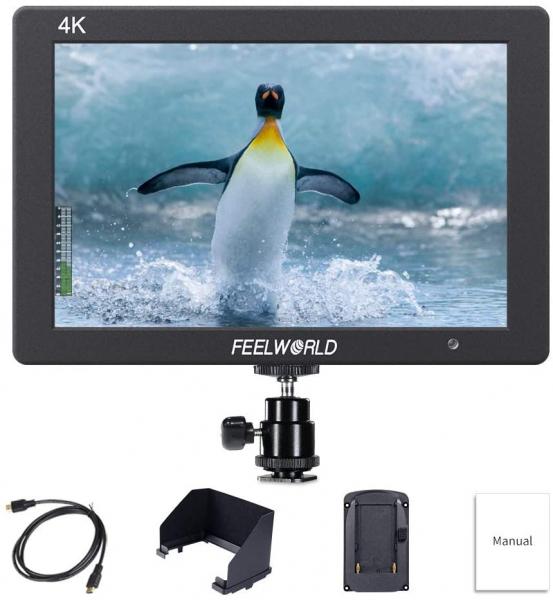 Pachet FeelWorld Monitor 7 Inch IPS 1920x1200 4K HDMI Input Output + Digital Power NP-F960/F970 acumulator pentru Sony + Digital Power incarcator rapid pentru Sony 0