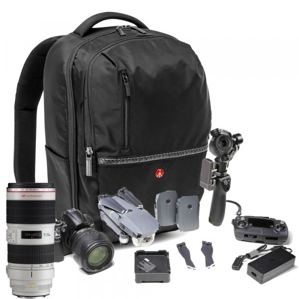 Pachet Sigma 18-35mm F1.8 DC HSM Art Nikon + Manfrotto MB MA-BP-GPL Rucsac DSLR si DJI Mavic Pro