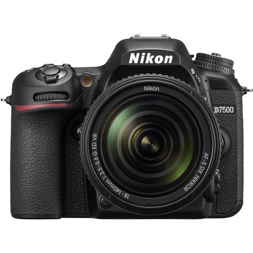 Pachet Nikon D7500 Aparat Foto DSLR DX Kit Obiectiv 18-140mm f3.5-5.6+ Manfrotto Rucsac Hover-25 0