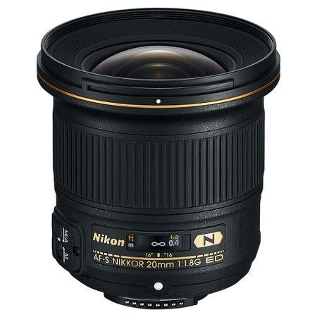 Pachet Obiectiv Nikon Nikkor 20mm f/1.8G ED AF-S+Manfrotto Element Monopod Aluminiu Rosu 0