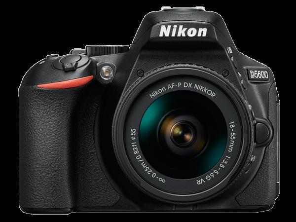 Pachet Nikon D5600 Aparat Foto DSLR 24.2MP CMOS Kit cu Obiectiv AF-P 18-55mm VR, Negru + Manfrotto Compact Advanced kit trepied foto cu cap bila si husa