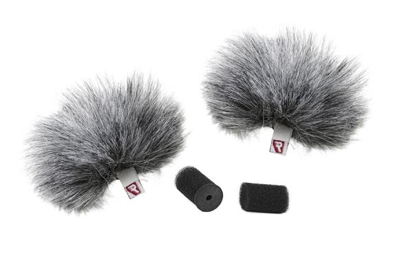 Pachet Boya BY-M1DM microfon lavaliera dubla+Rycote protectie vant pentru lavaliera dubla 1