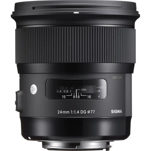 Pachet Sigma 24mm f 1.4 DG HSM ART pentru Nikon+Manfrotto filtru UV slim 0