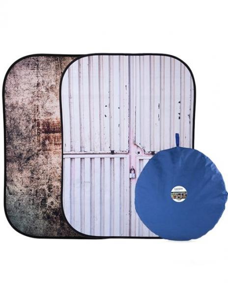 Pachet Lastolite fundal pliabil Tarnished Metal/Container 1.5 x 2.1m + Lastolite Suport magnetic pentru fundaluri pliabile