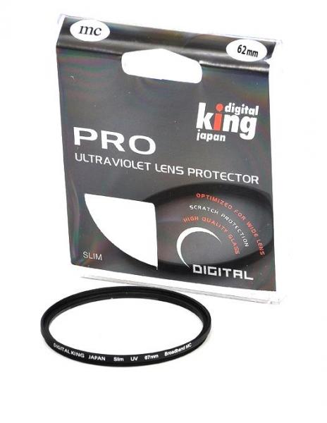 Pachet Digital King filtru polarizare circulara Slim 62mm + Digital King filtru UV multicoated slim 62mm