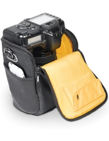 Pachet Sigma 18-300mm f/3.5-6.3 DC MACRO OS HSM C Canon + Manfrotto Compact Advanced kit trepied foto cu cap 3-Way si husa + Kata 14DL geanta foto