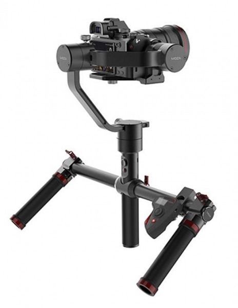 Pachet Gudsen Moza Air Gimbal Dual Handle cu Quick Release inclus (max 3.2kg) + Moza Mini Trepied + Gudsen Moza Wireless Thumb Controller