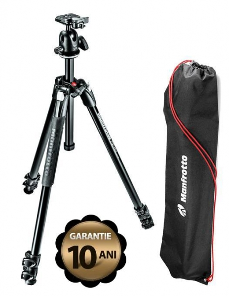 Pachet Sigma DP1 Quattro 19mm f/2.8 - Aparat foto compact + Manfrotto Kit Trepied 290 XTRA, cu cap bila si husa + Manfrotto Amica 50BB geanta foto