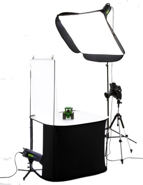 Pachet Lastolite RayD8 5600K Kit portret + Lastolite Cort tip masa portabila Litetable 70 x 70cm