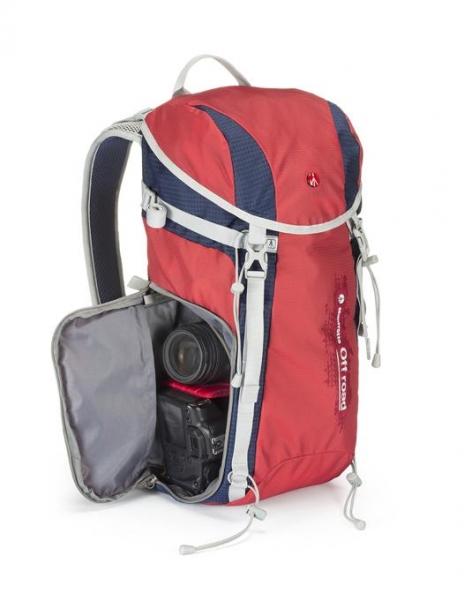 Pachet Nilox Mini F Wi-Fi Full HD Camera actiune + Manfrotto Off Road Hiker 20L rucsac rosu