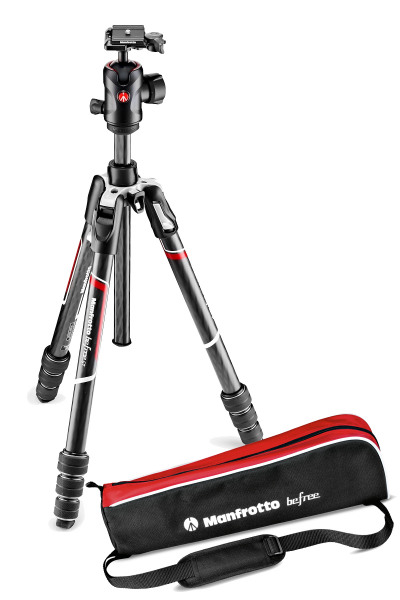 Pachet Manfrotto Befree GT  trepied carbon + Manfrotto Rucsac Foto Modular Noreg 30